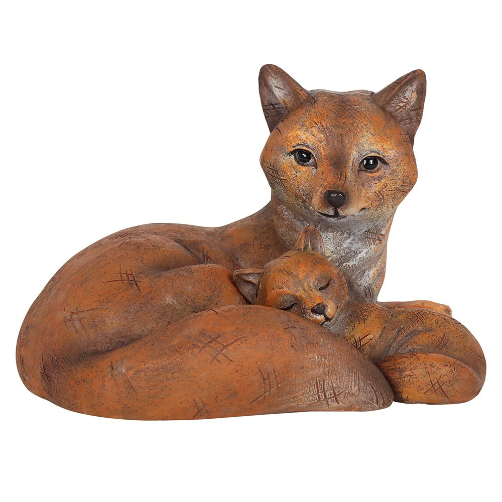FOX MOTHER AND BABY ORNAMENT