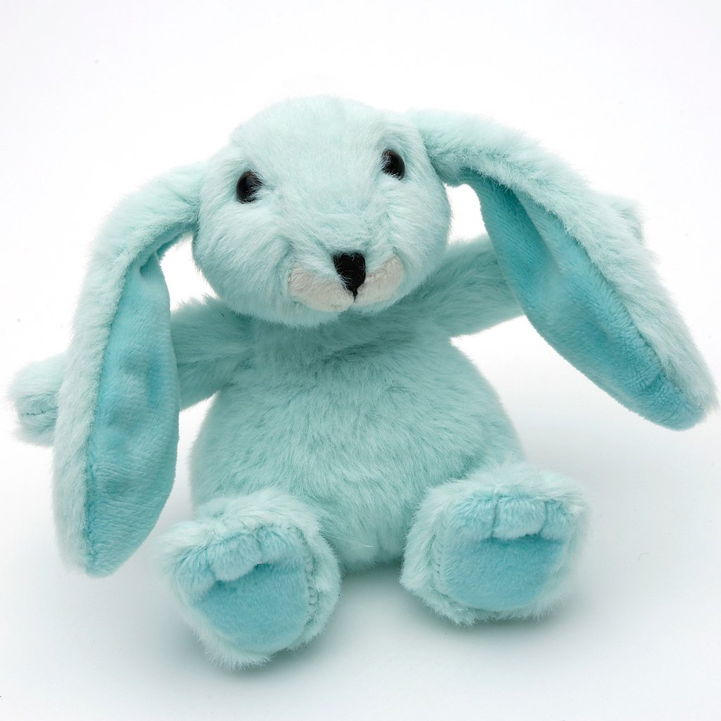 SMALL MINT GREEN SNUGGLY BUNNY