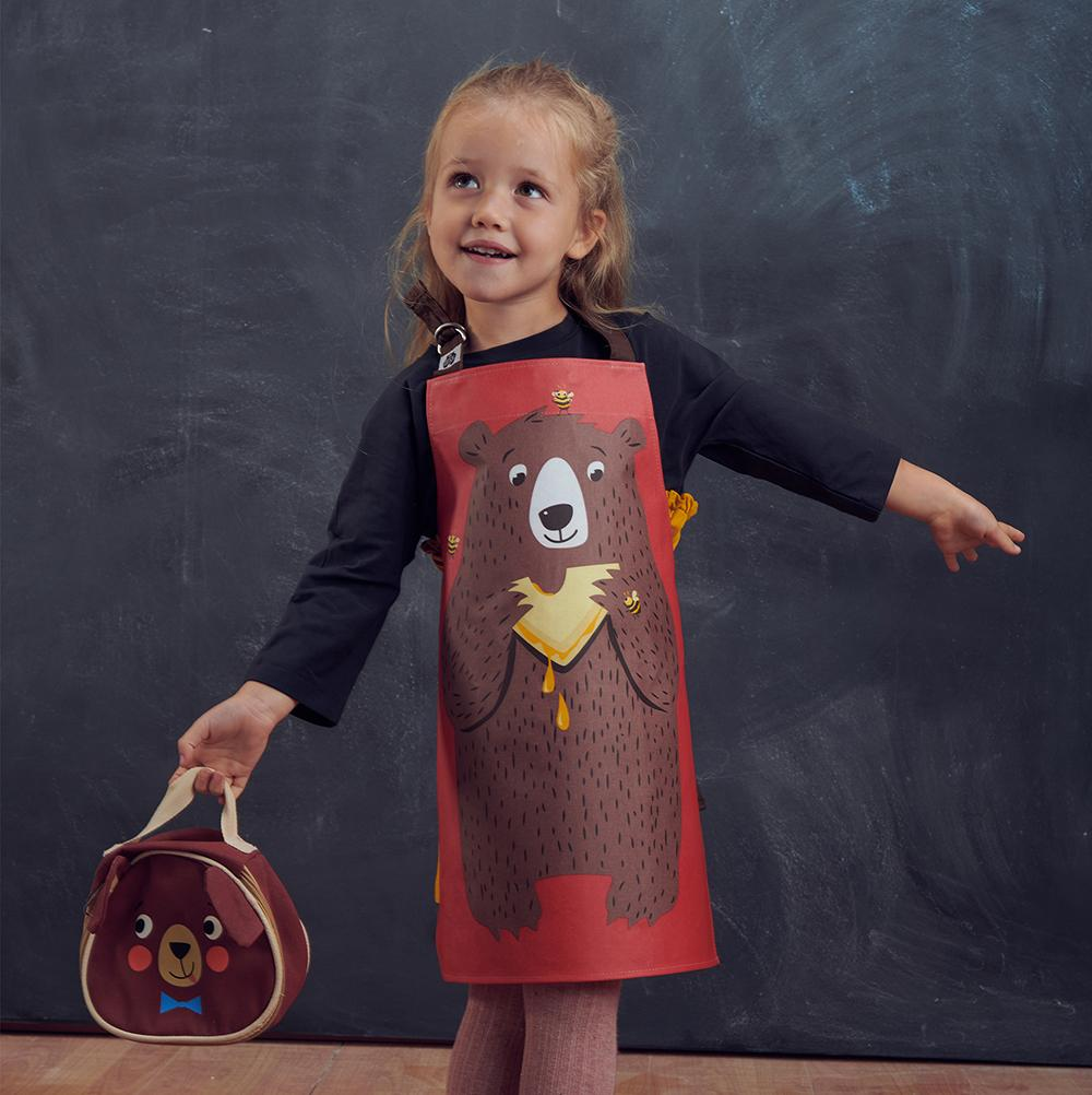 APRON/TABARD - FRED THE BEAR COTTON APRON
