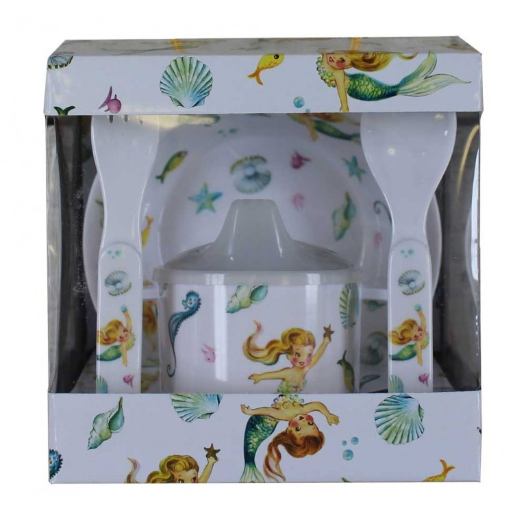MERMAID MELAMINE DINING SET