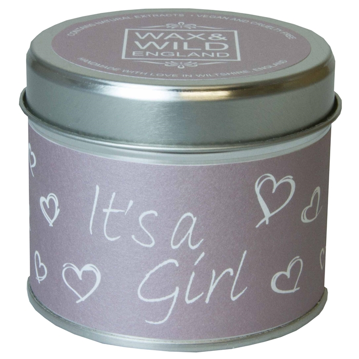 IT'S A GIRL CANDLE IN A TIN