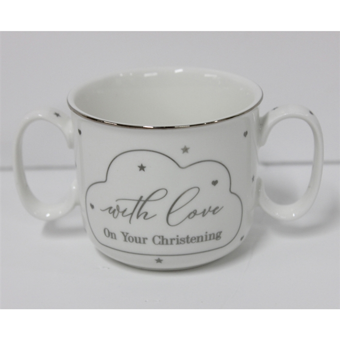 CHRISTENING TWIN HANDLE MUG