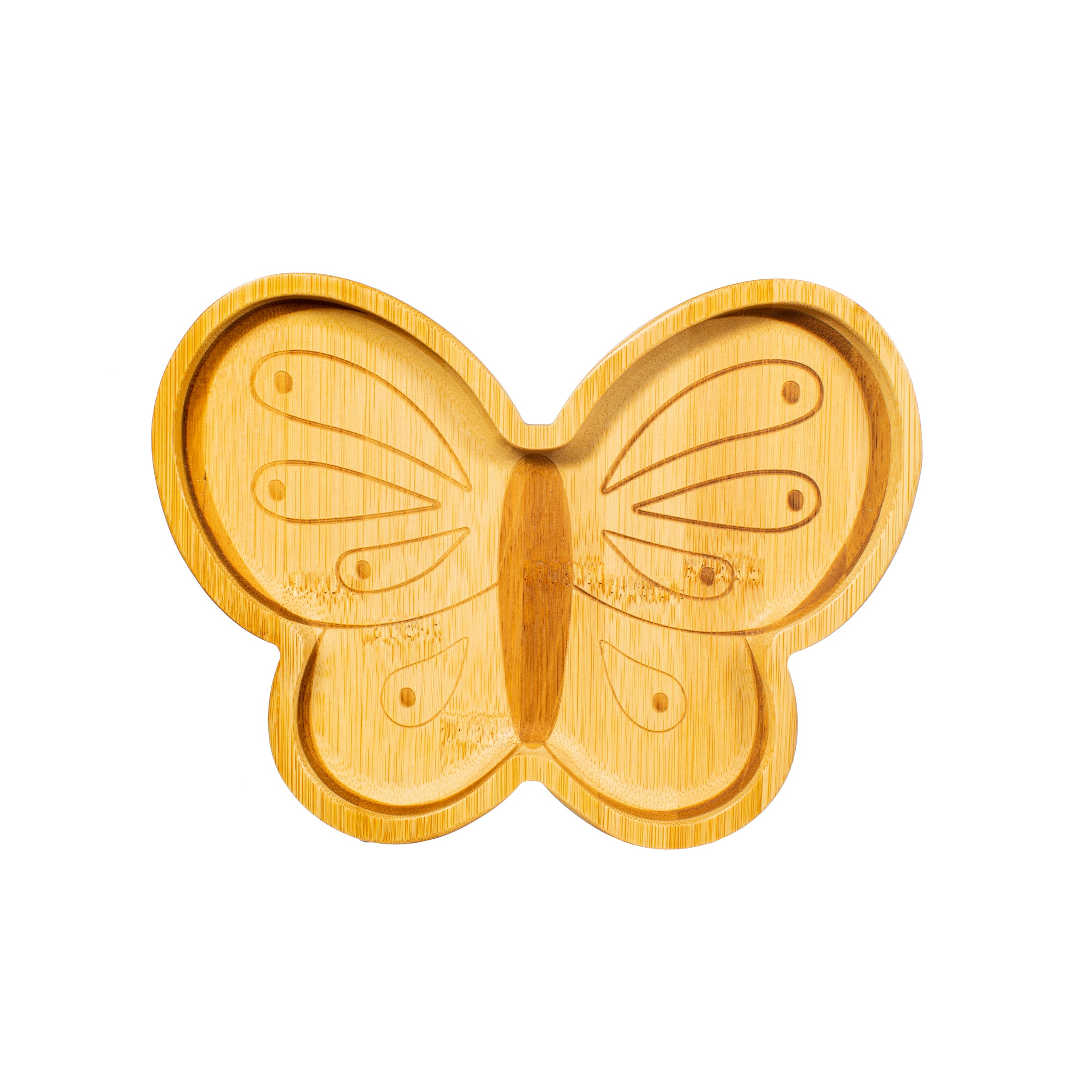 BAMBOO PLATE - BUTTERFLY