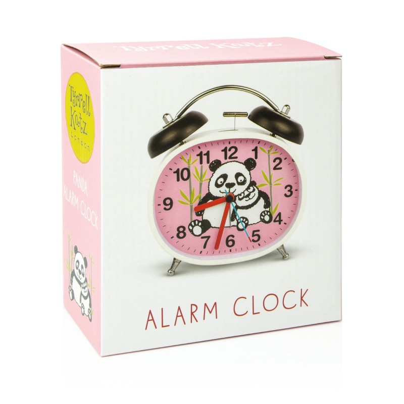 CLOCK - PANDAS DESIGN CHILDREN'S ALARM CLOCK · TWIN BELL · SILENT TICK