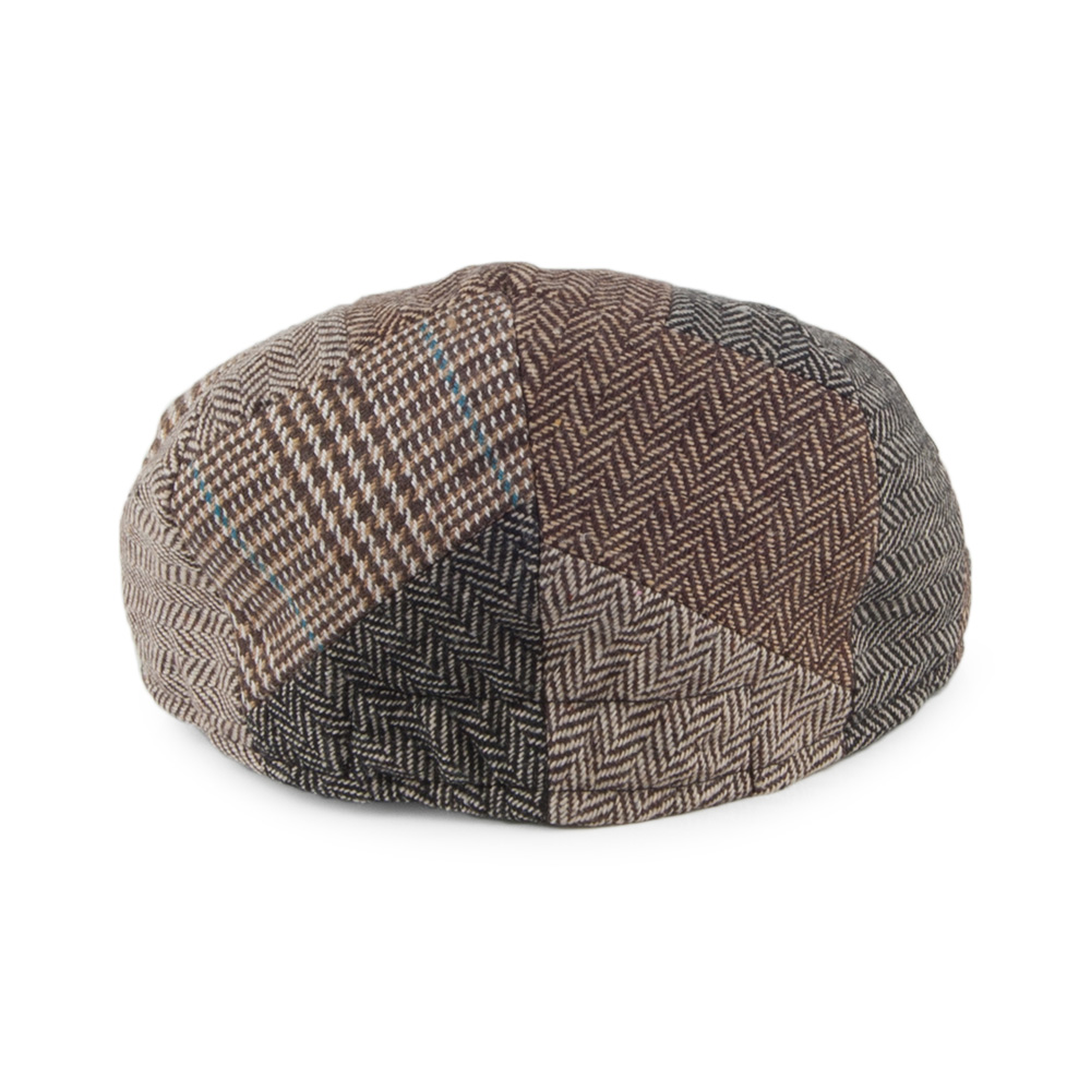 KIDS PATCHWORK FLAT CAP MULTI-COLOURED