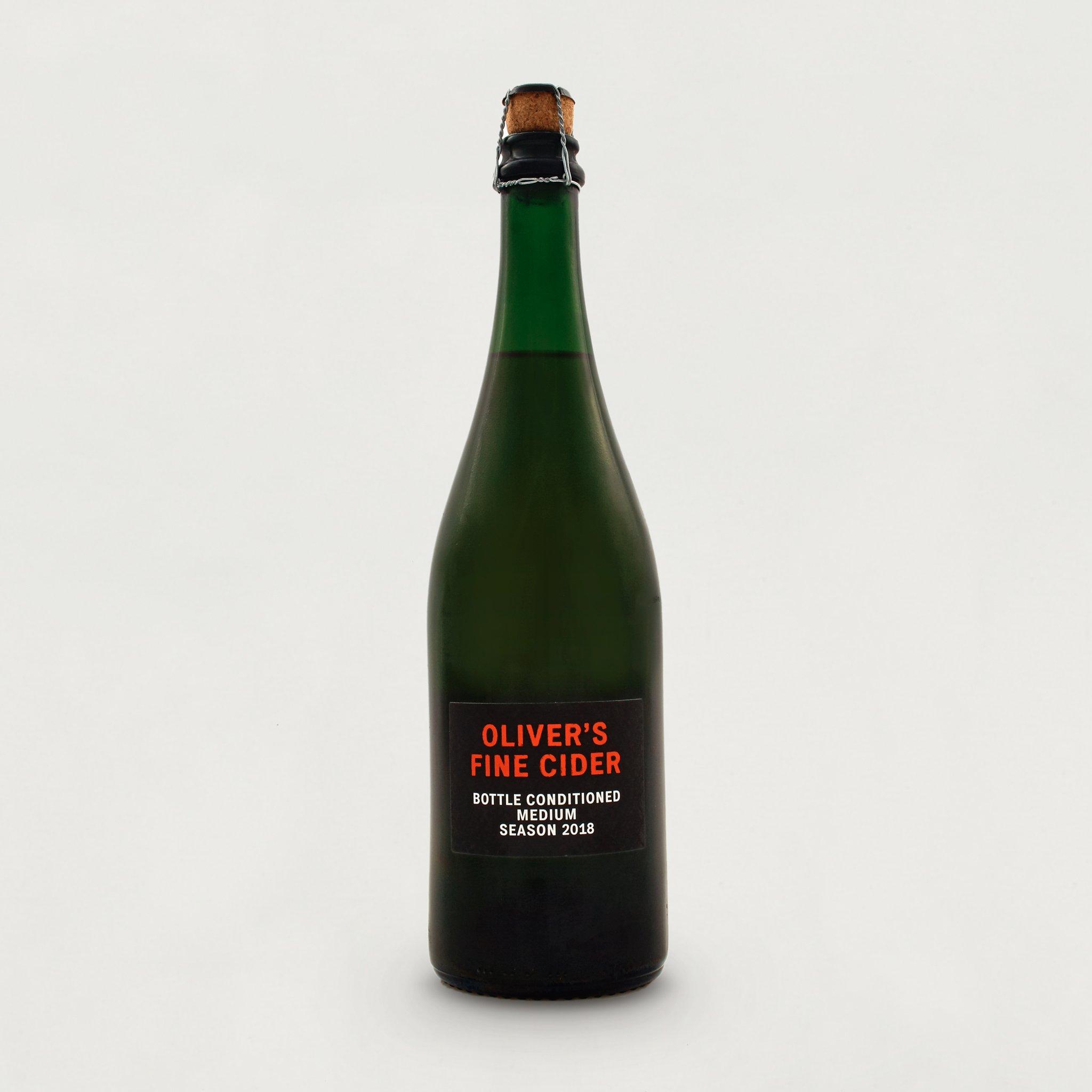 Oliver's Fine Cider Bottle Conditioned Medium 2018 5.4% (750ml)