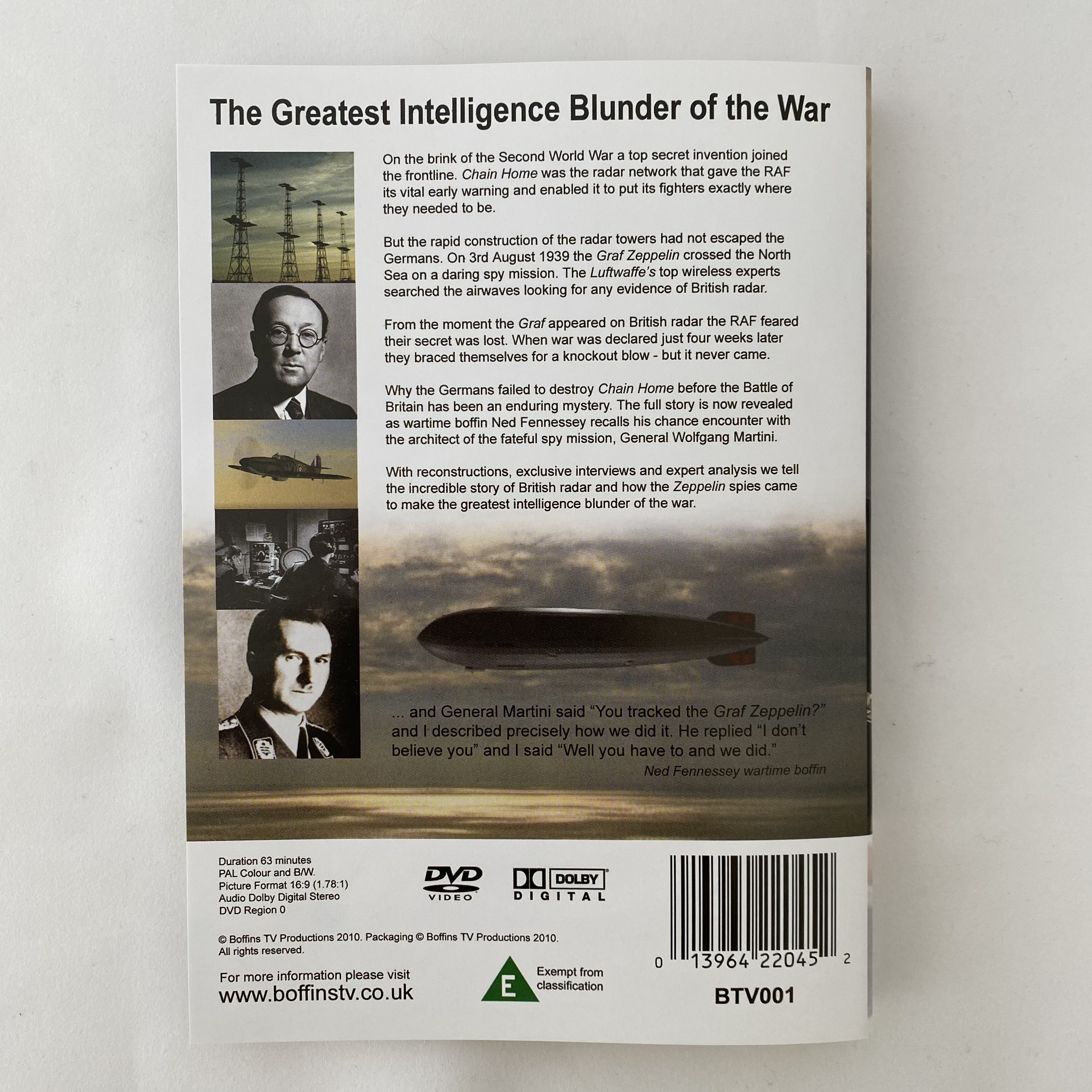 The Spies who lost the Battle of Britain - DVD
