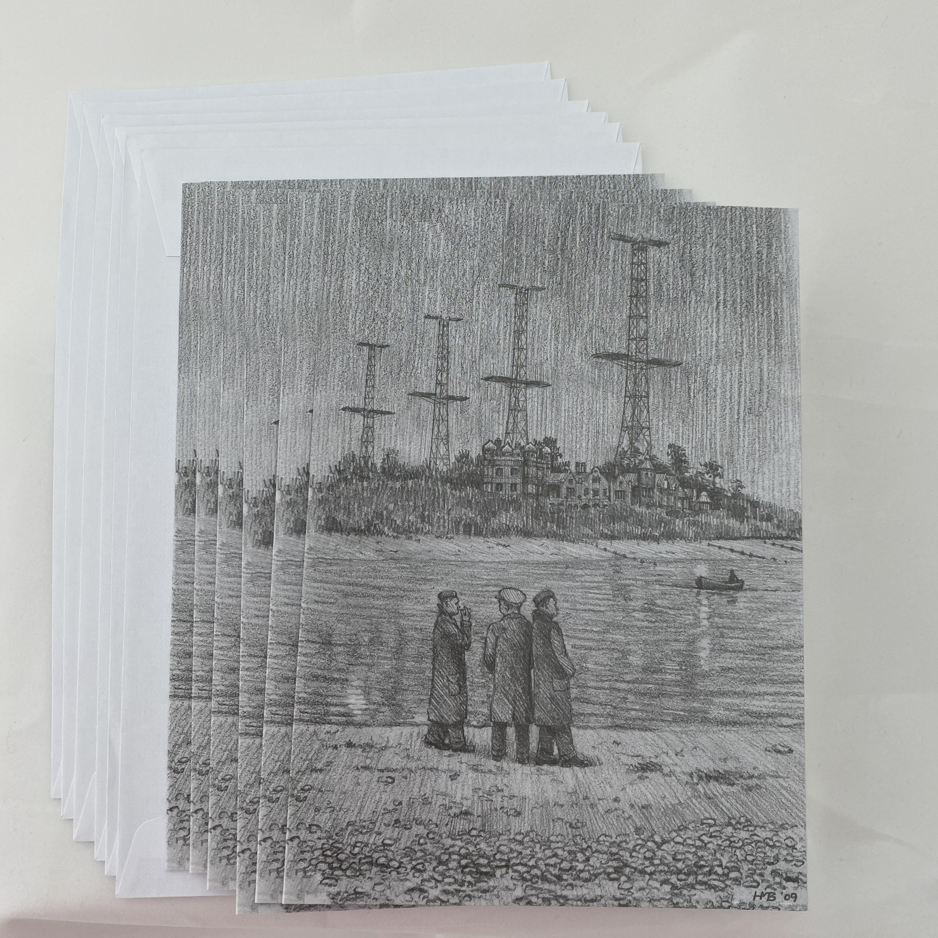 Greeting Cards - Waiting for the Ferry