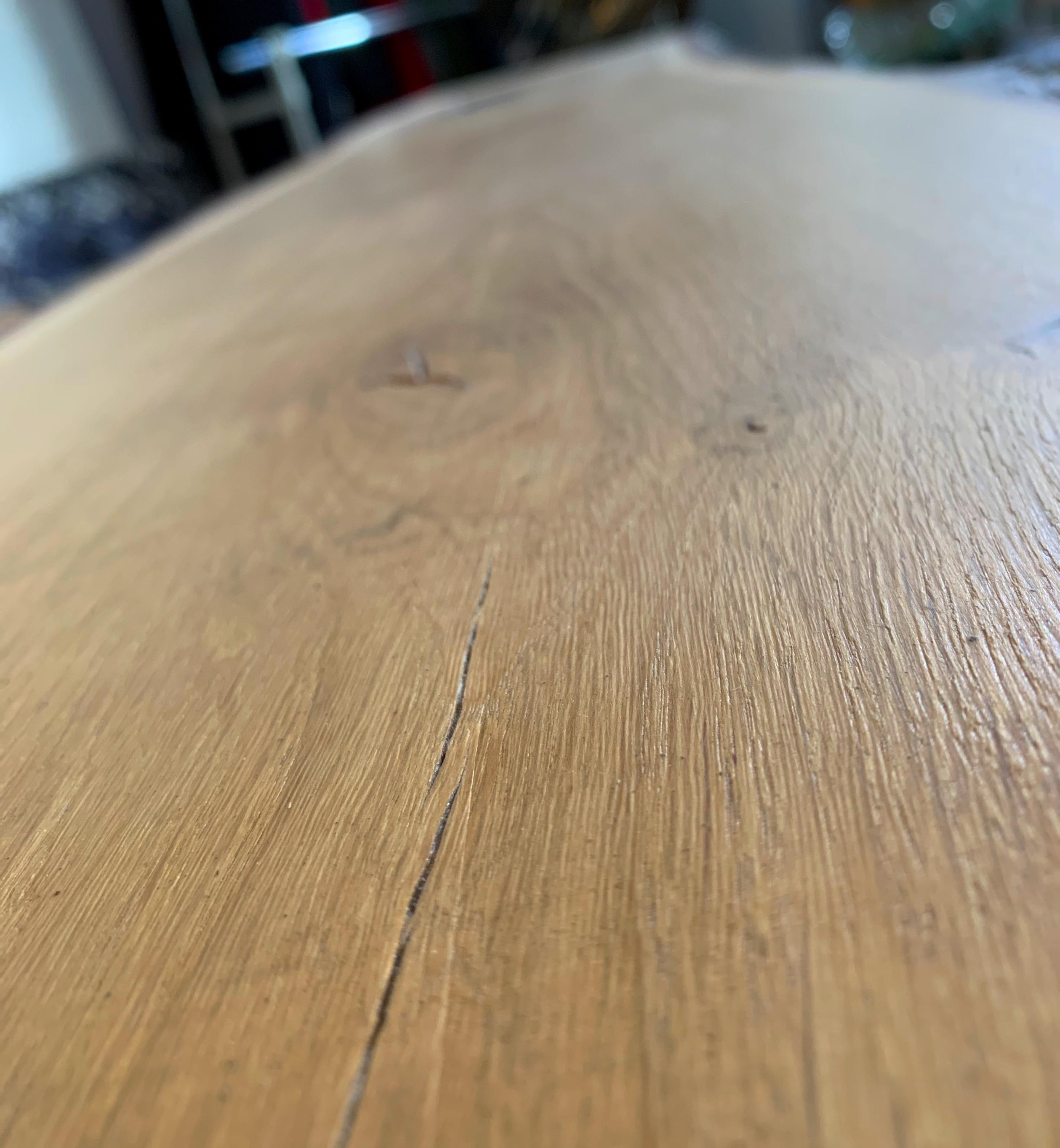 Eichen Tischplatte mit Waldkante