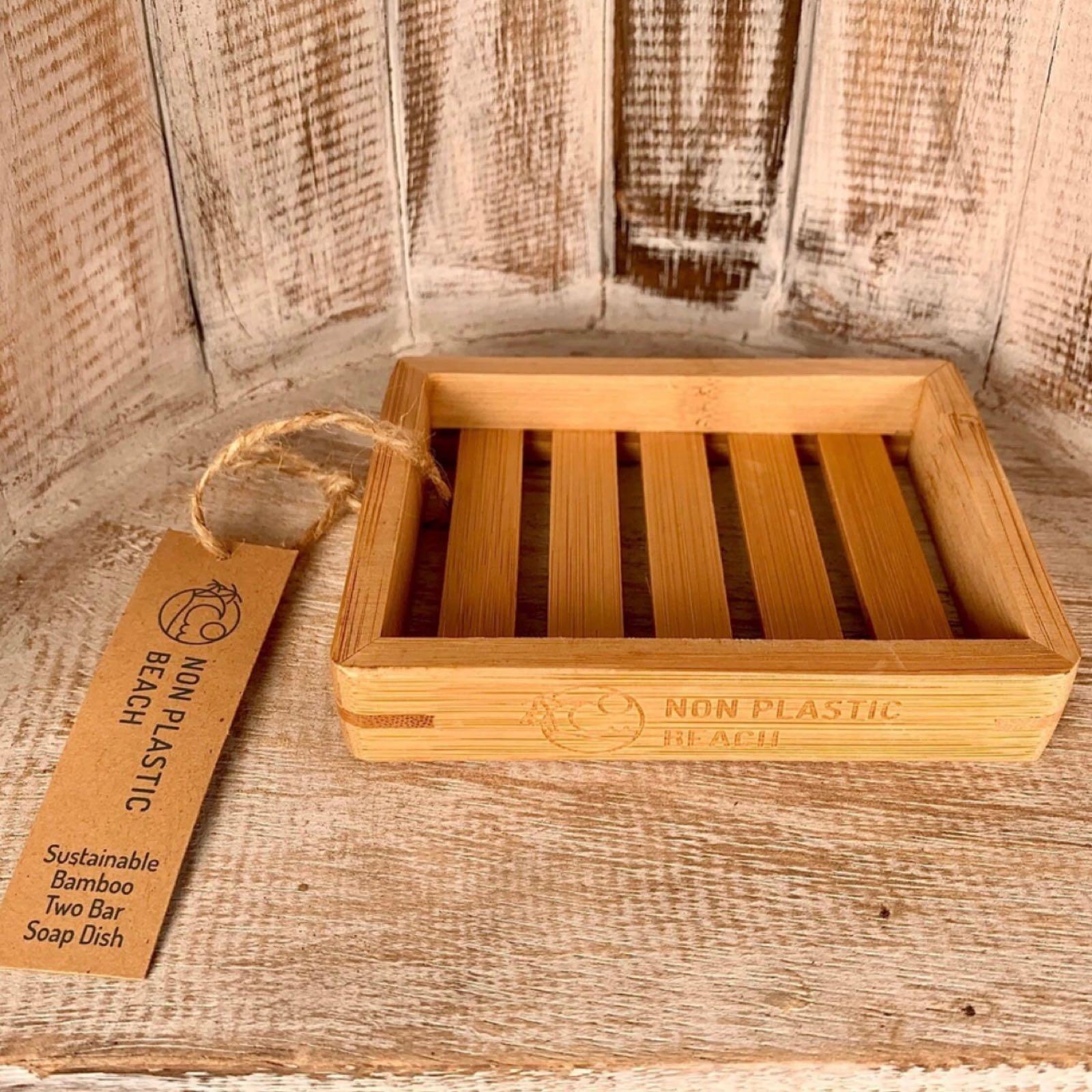 Rectangular Bamboo Soap Dish