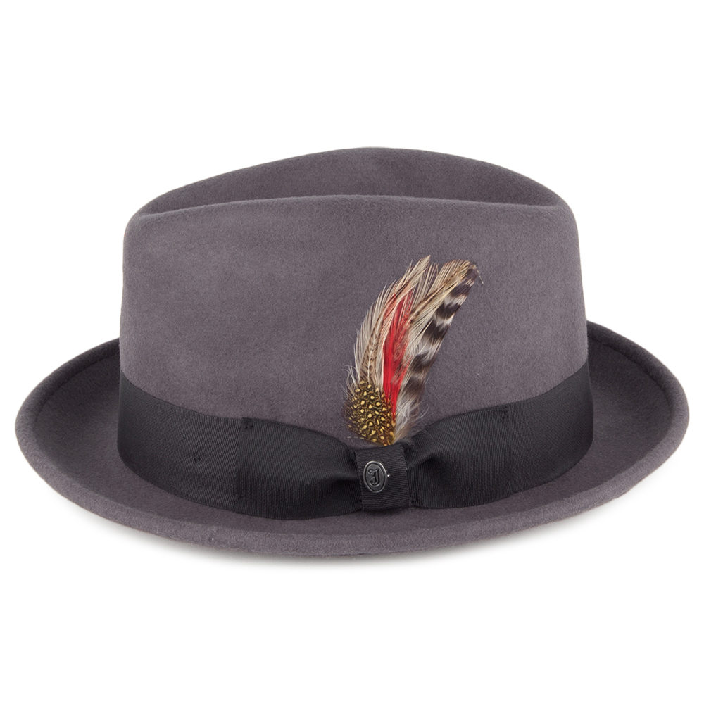 Crushable grey trilby