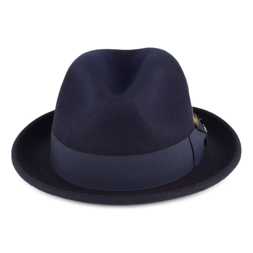 Crushable navy trilby