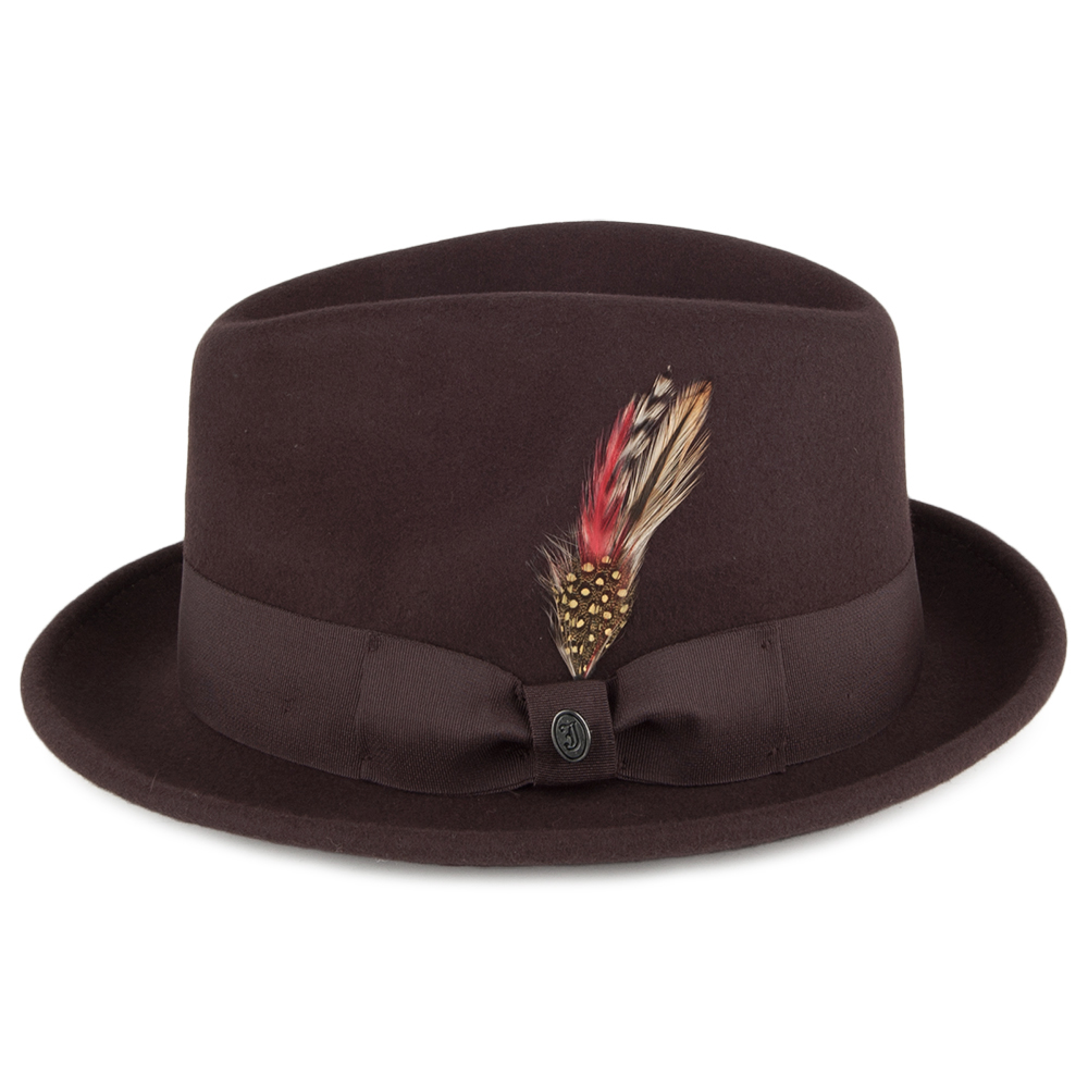 Crushable brown trilby