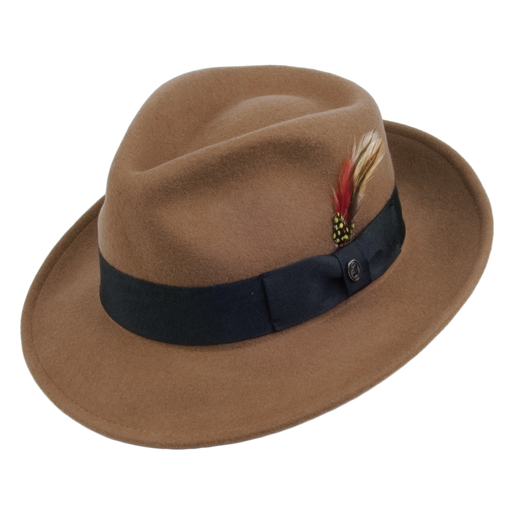 Crushable caramel fedora