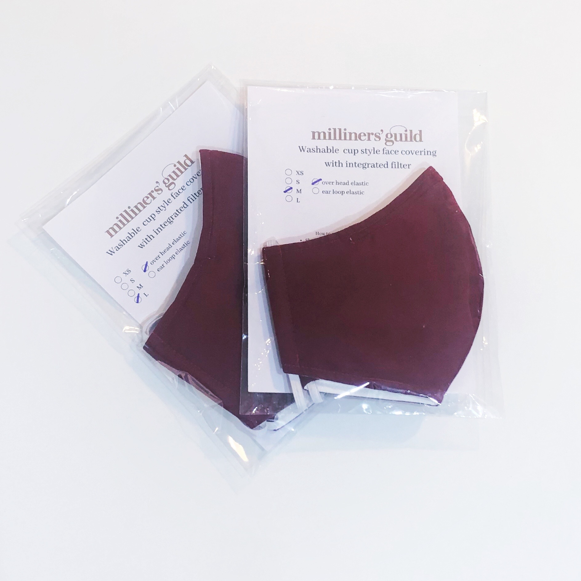 Plain facecoverings pack of 100