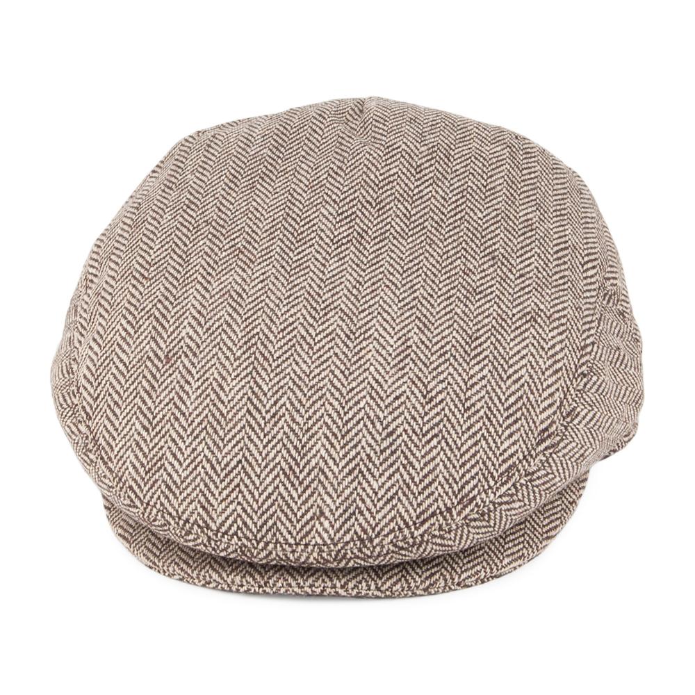 Herringbone brown flat cap