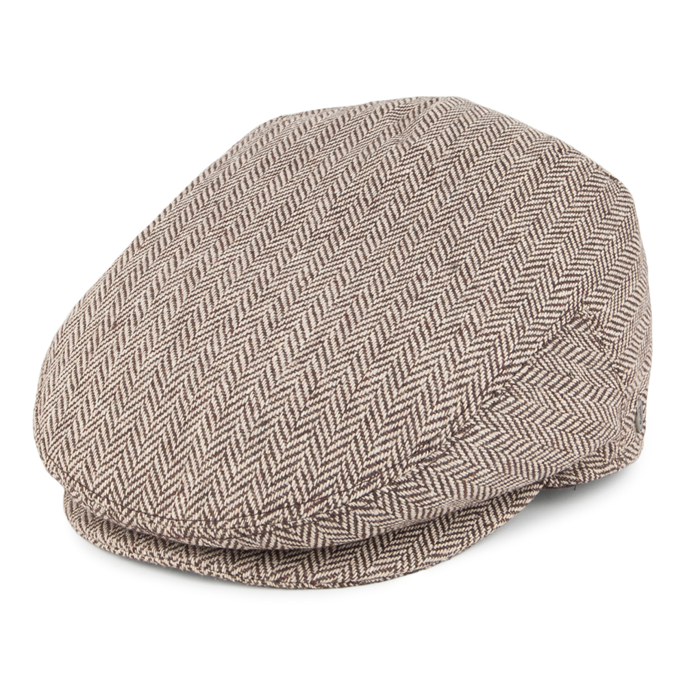 Herringbone brown flat cap