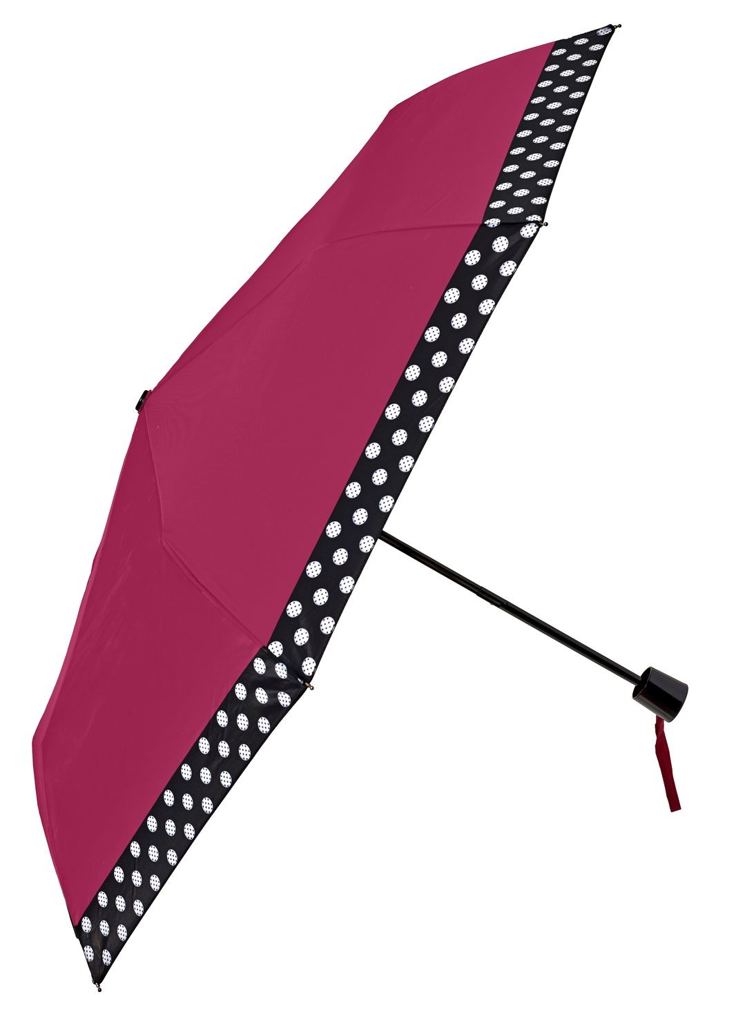 Plain dotty folding umbrella
