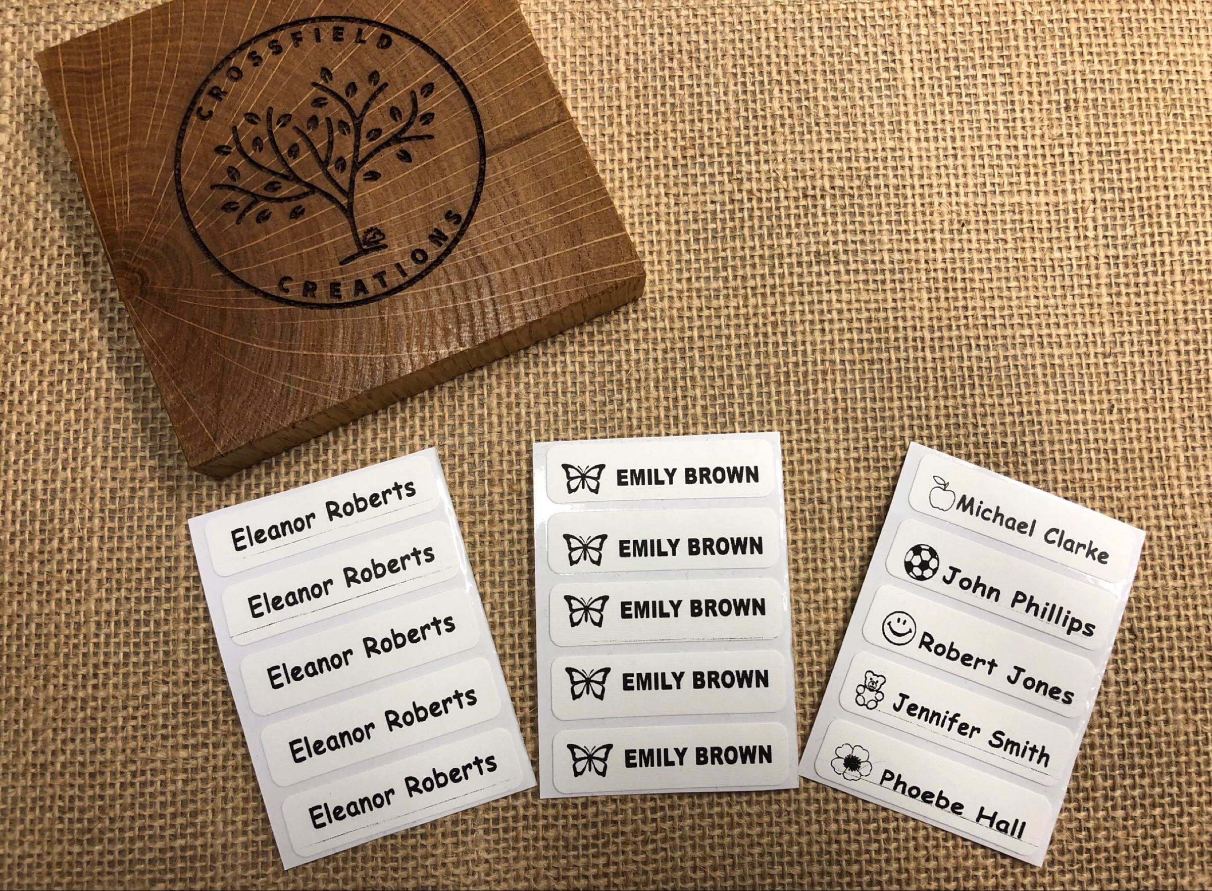Iron on Uniform Labels