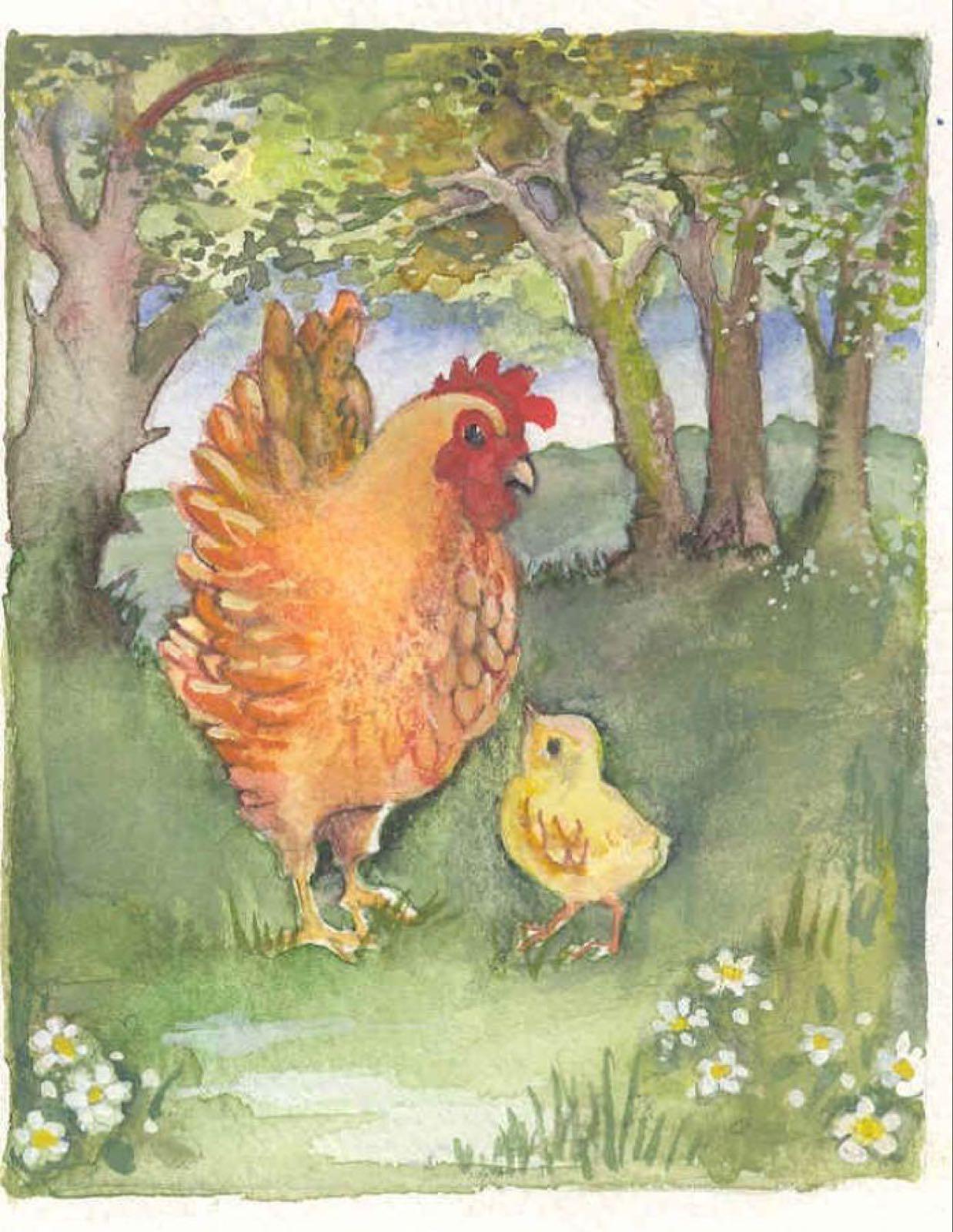'Chicken Licken' Furzedown Gallery Mini Card