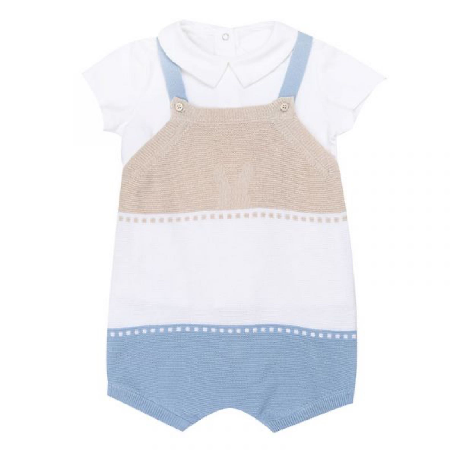 MAYORAL BABY BOY Knitted Romper and Shirt Set 1638-007