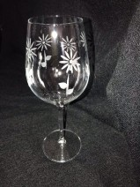 Hand Etched Cabernet Tulipe Wine Glass 750mls