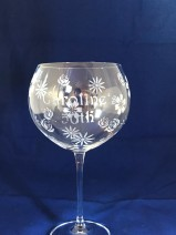 Hand Etched Gin Bowl 850mls