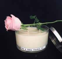 400g Clear Container Candle with 3 wicks and metallic lid