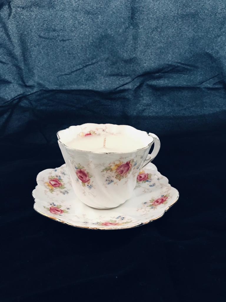 130g Recycled Tea Cup & Saucer - Mango & Passionfruit