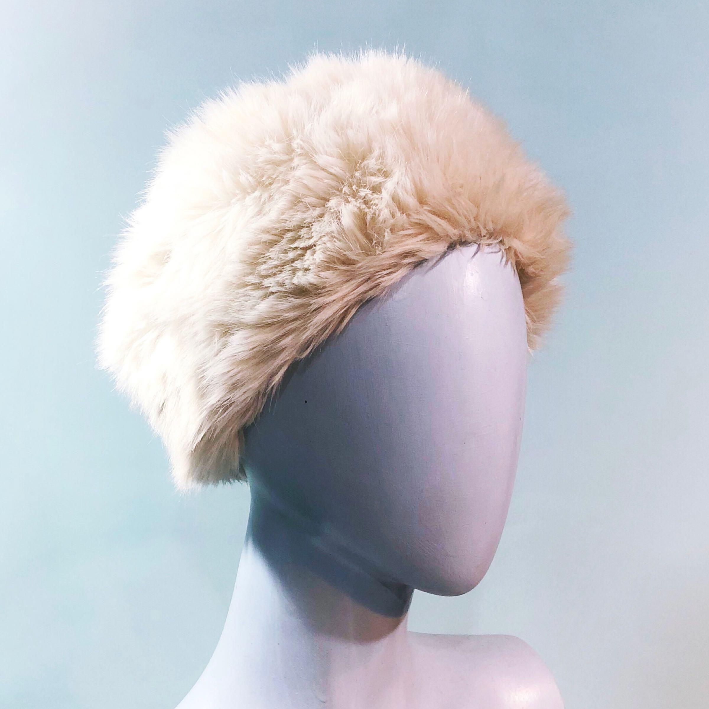 Cream faux fur