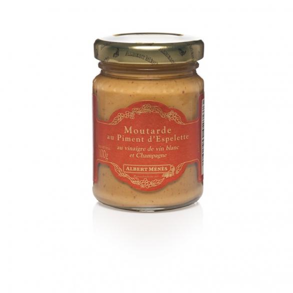 07/ Sennep med chilli fra Espelette 100g - Albert Ménès