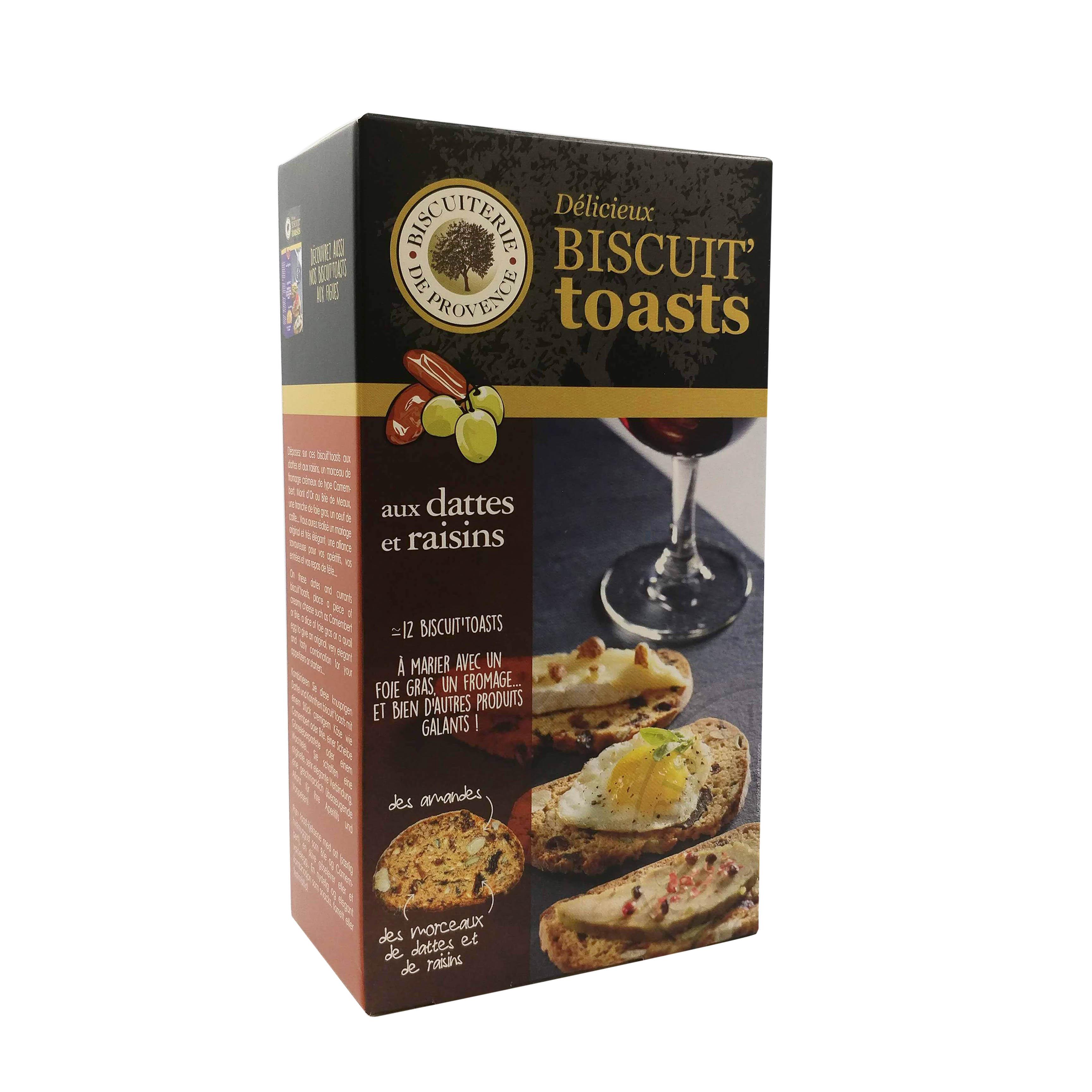 02/ Kjeks med dadler, 120g - Biscuiterie de Provence