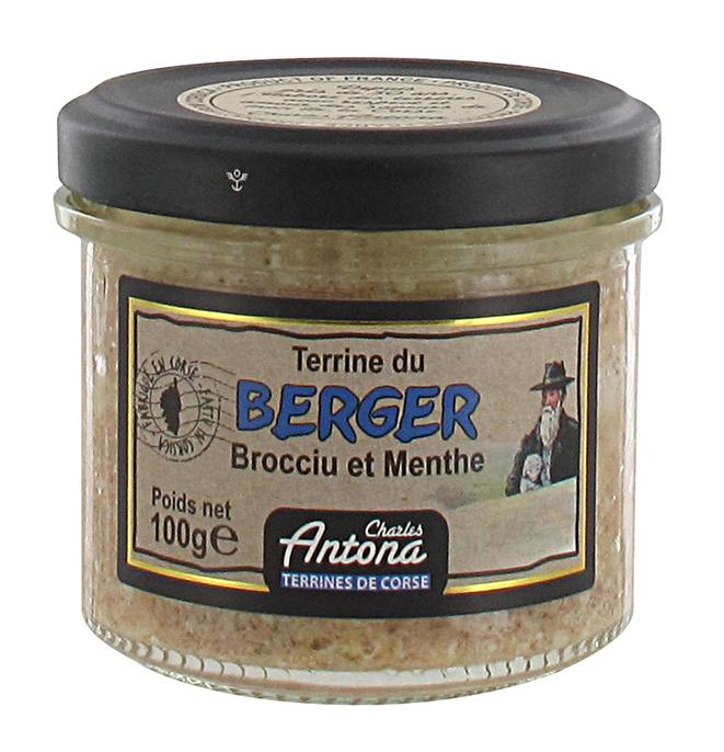 16/ Pâté med Brocciu-ost og mynte 100g - Charles Antona