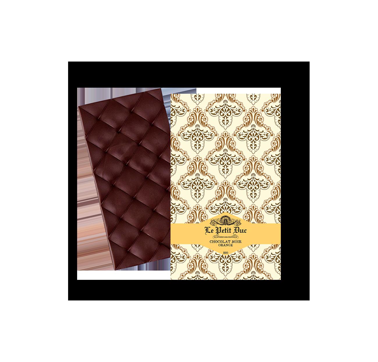 14/ Mørk sjokolade med appelsin, 70g - Le Petit Duc