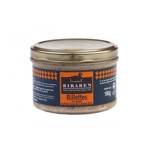 05/ Anderillettes med 20% foie gras 180g - Biraben (fra 08. juni)