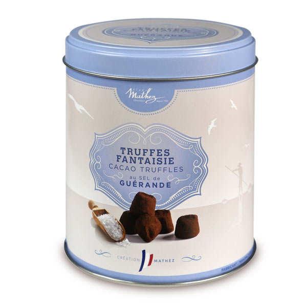 12/ Sjokoladetrøfler med fingersalt 250g *5 - Mathez (kr 93 / stk)