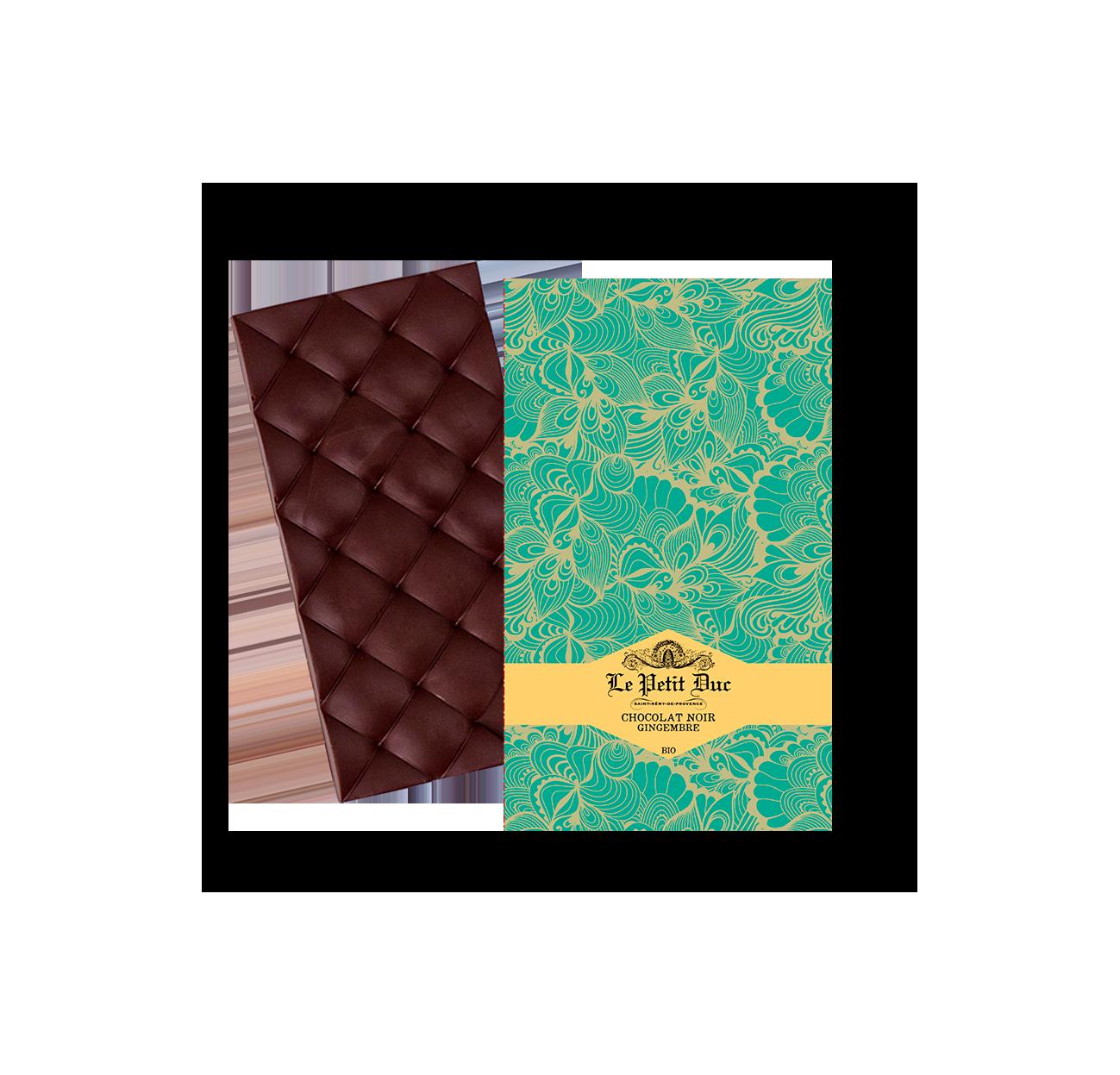 15/ Mørk sjokolade med ingefær, 70g - Le Petit Duc
