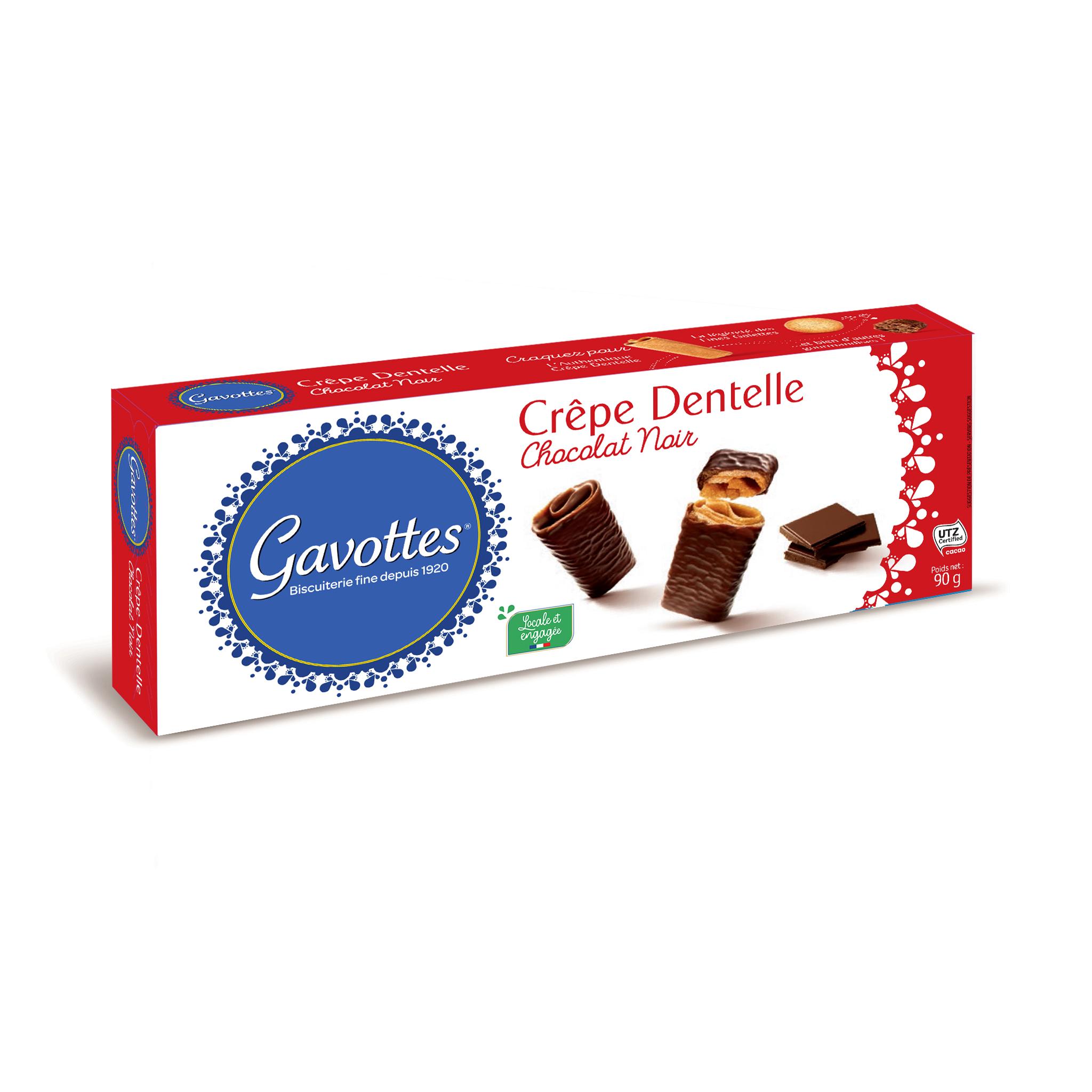 20/ Crêpes med mørk sjokolade, 90g - Gavottes