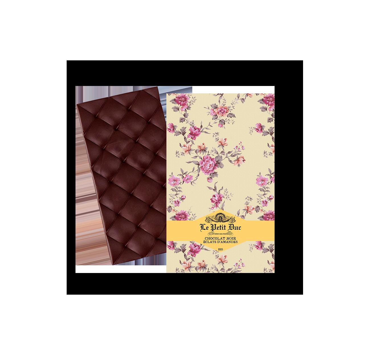 04/ Mørk sjokolade med knuste mandler, 70g - Le Petit Duc