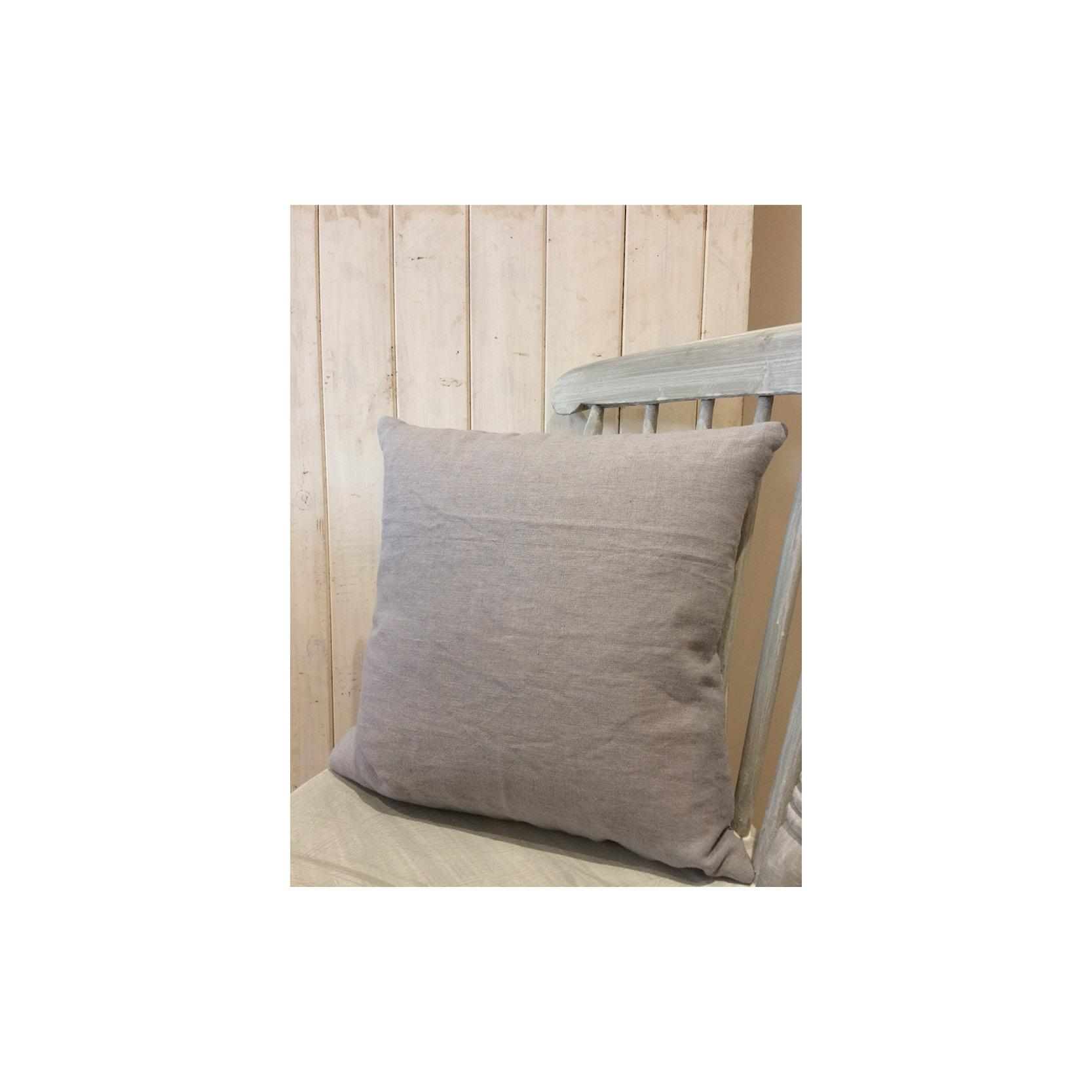 Pebble & Stripe - Pale Blue Ticking Cushion