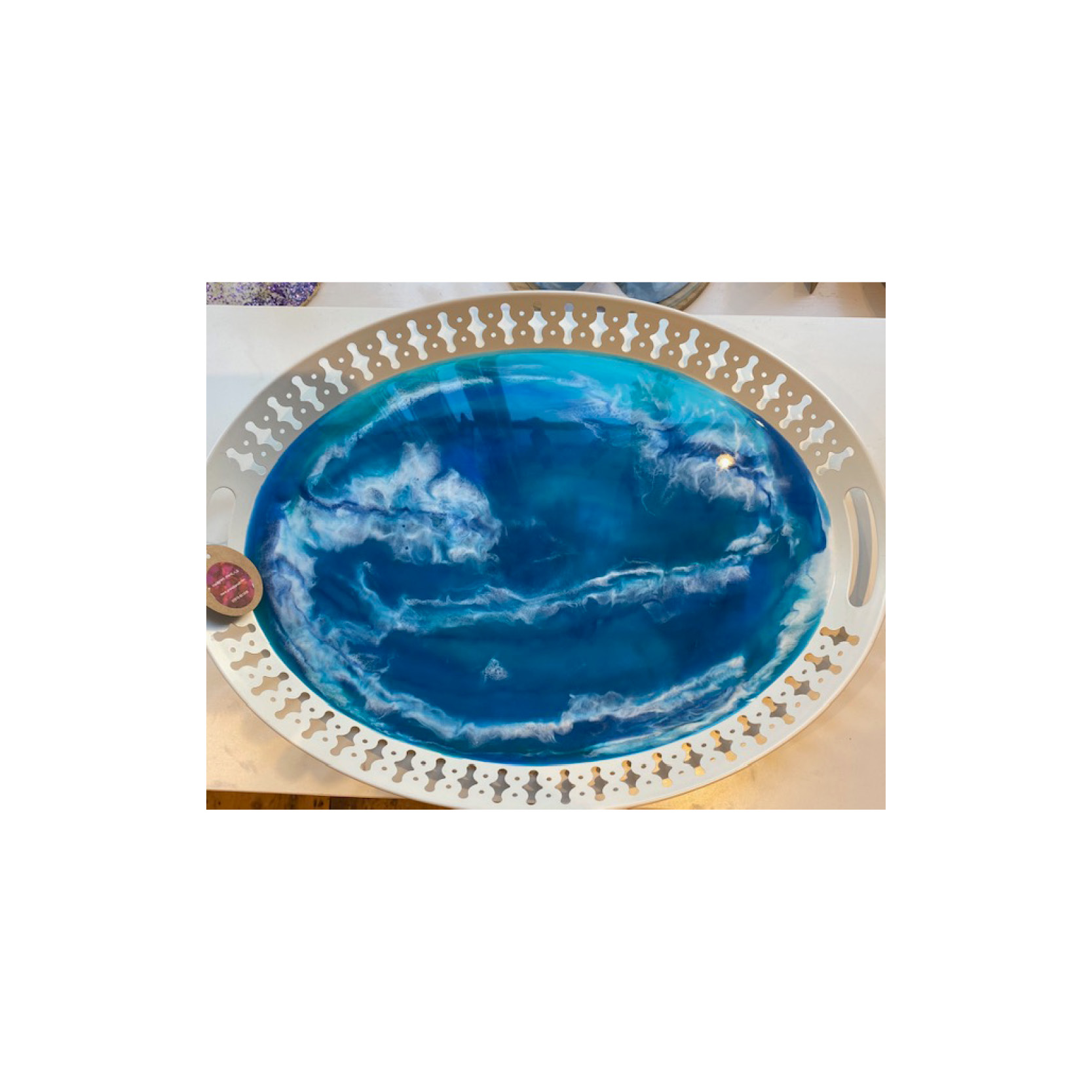 Chantal - Oval metal resin tray OMRT