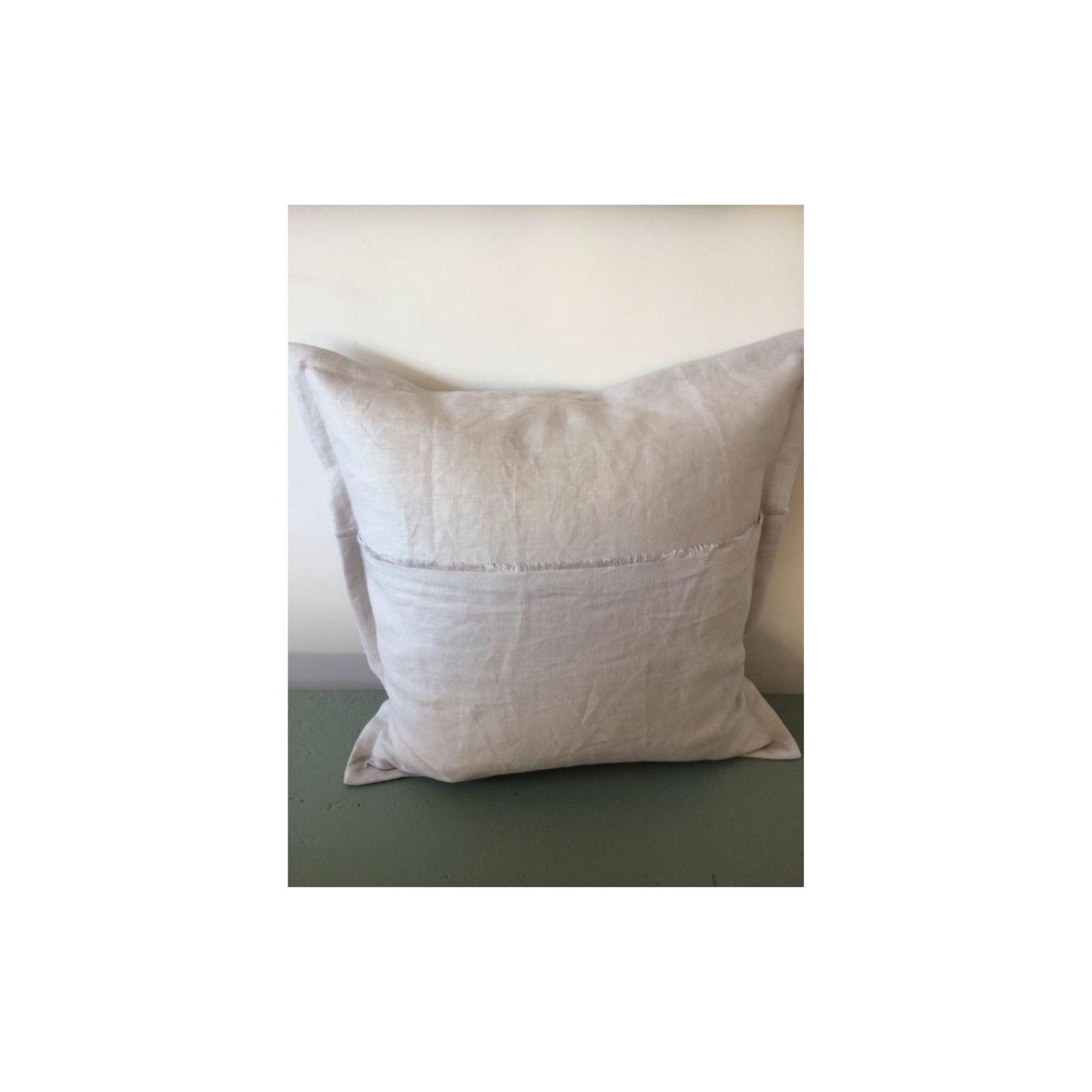 Pebble & Stripe - Square pale grey cushion