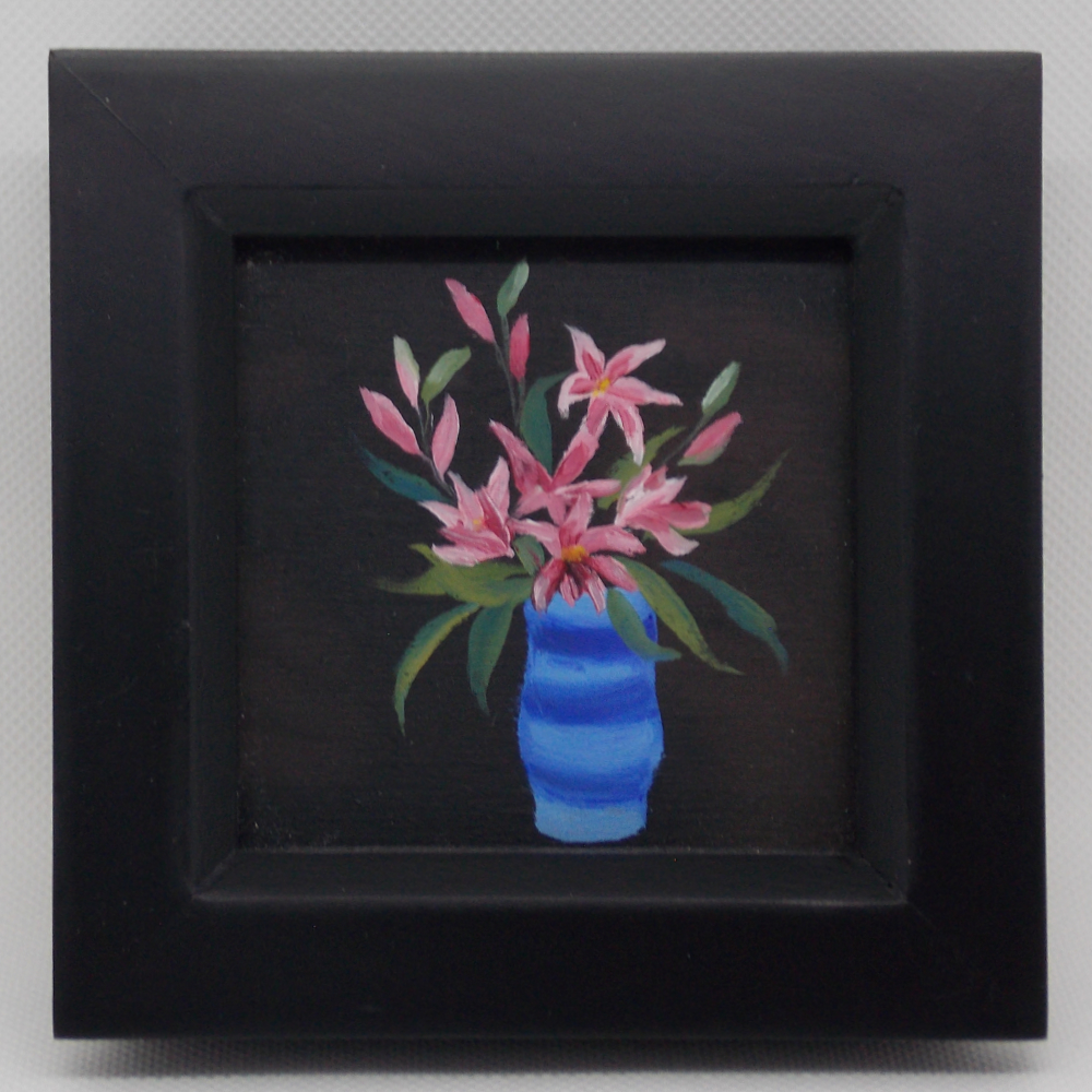 Carole White - Blue Vase and Lillies