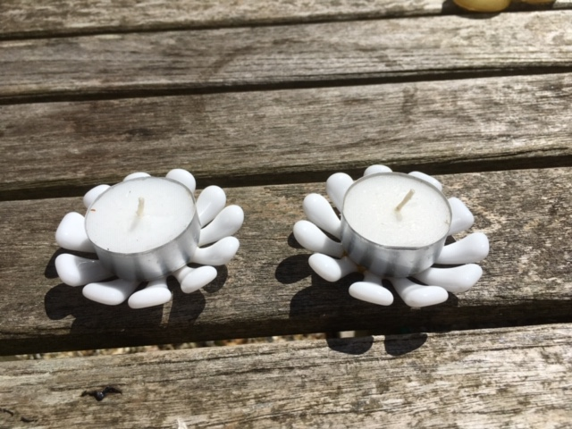Isabel Sargent - Glass Daisy Tea Lights