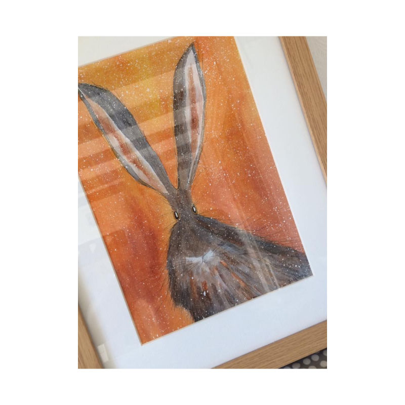 Louise Bradley Fisher - Hare Painting