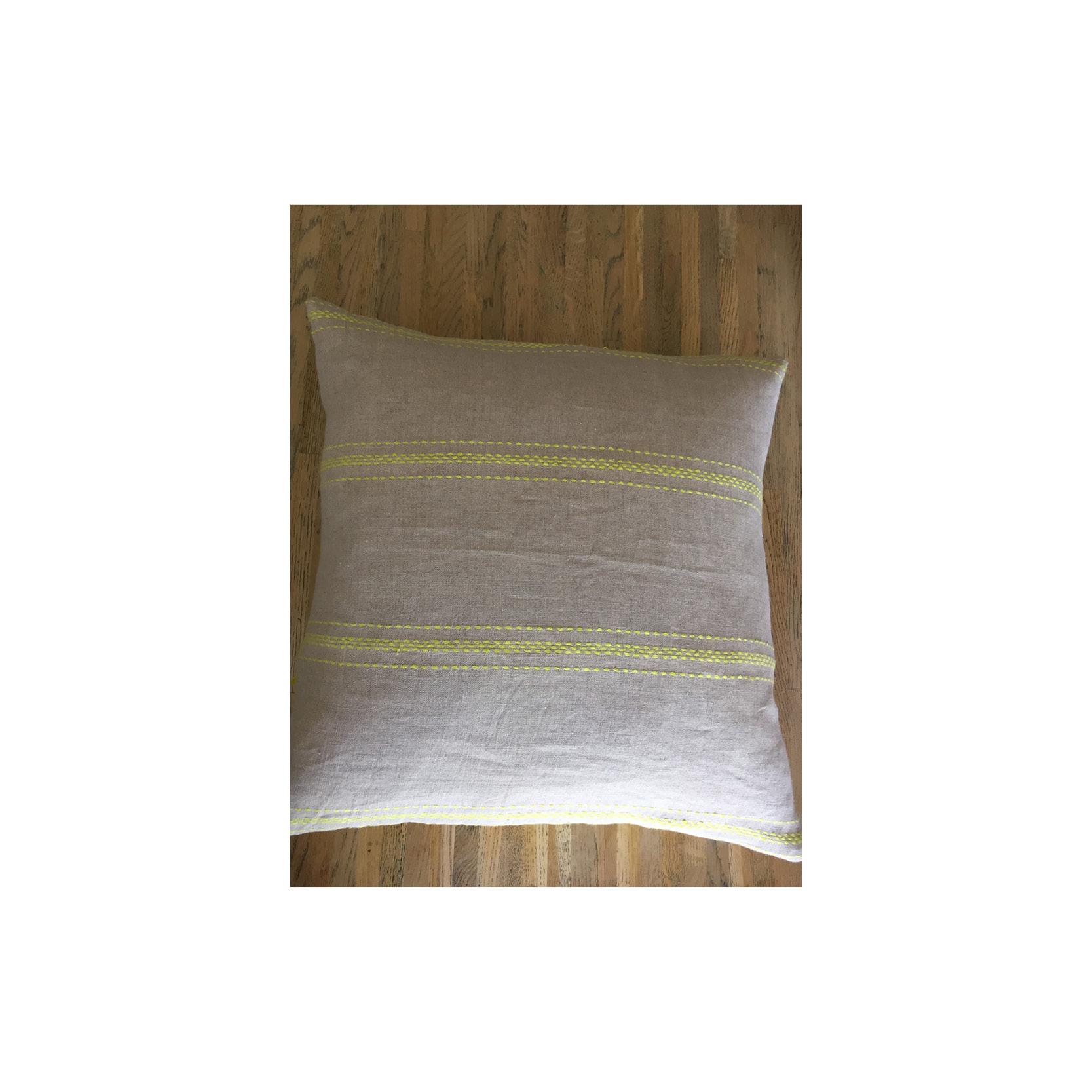 Pebble & Stripe - Lemon Cushion