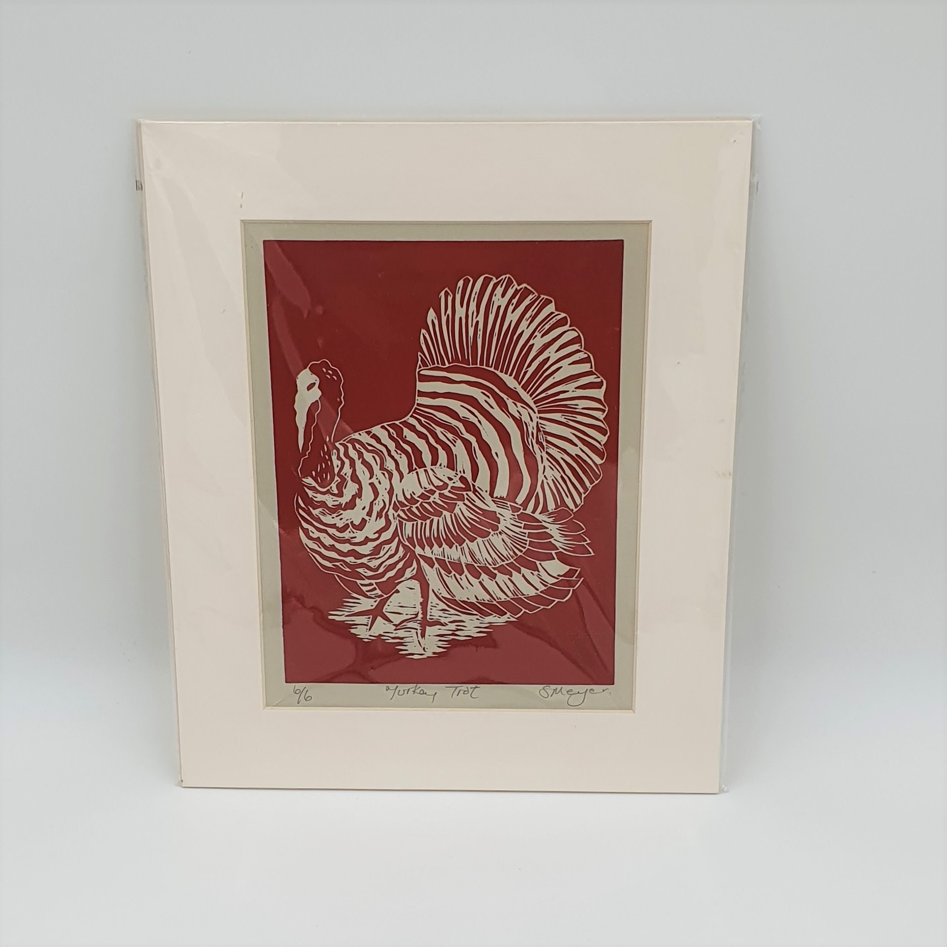 Shirley Meyer - Turkey Trot Linocut