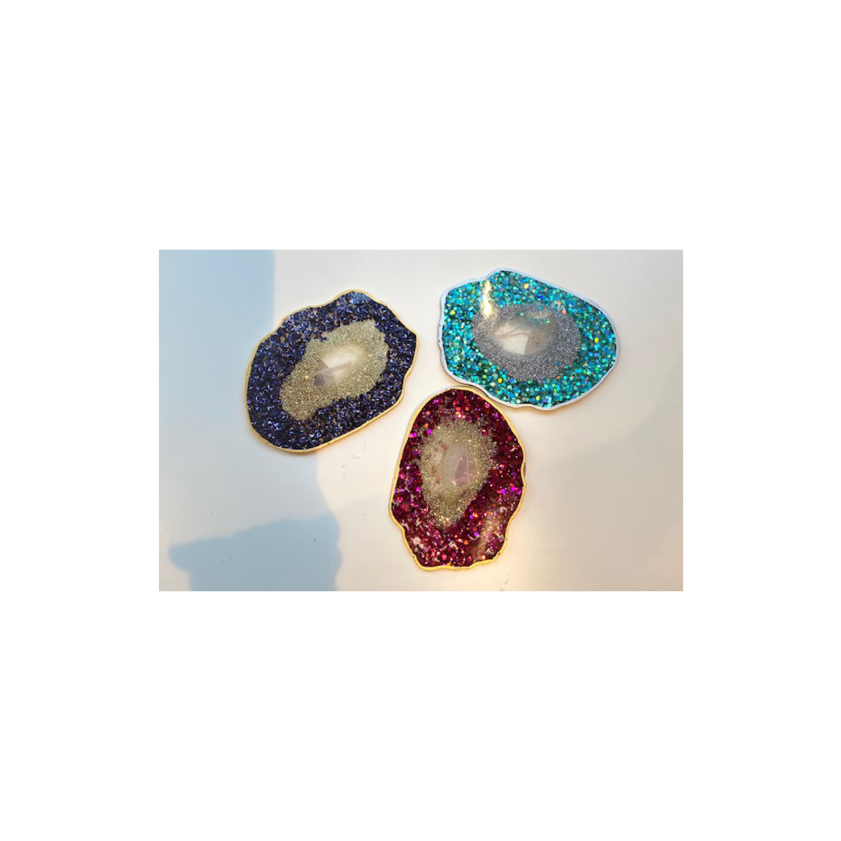 Chantal - Geode Glitter coaster