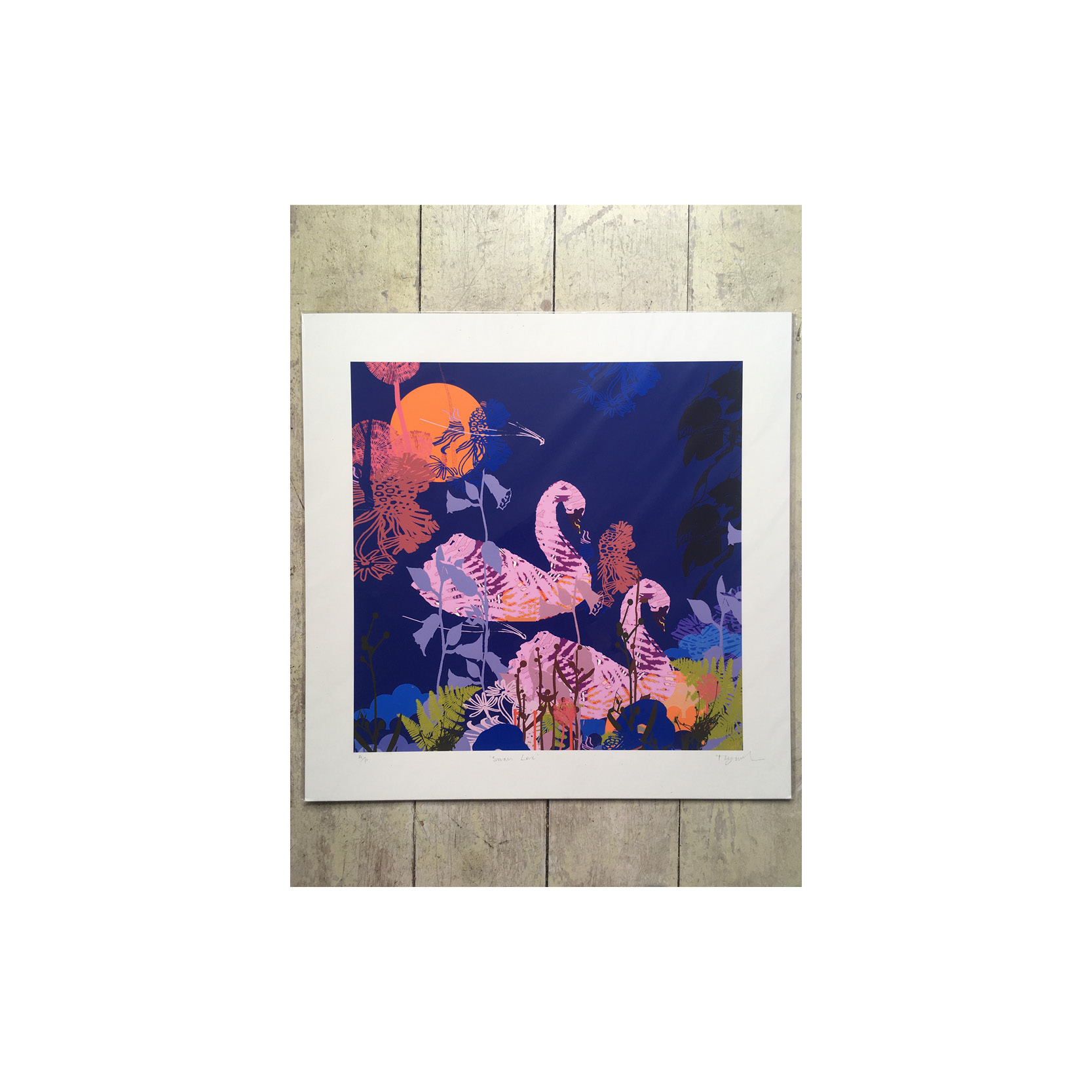 Tiffany Lynch - Swan Love Print