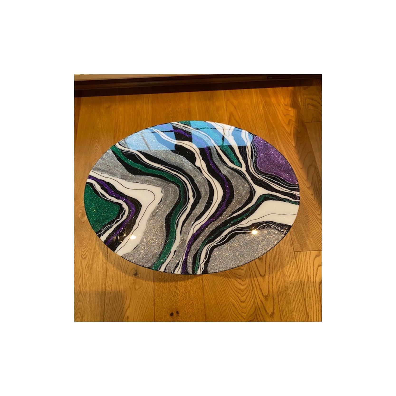 Chantal - Resin glitter table